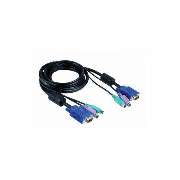 Кабель KVM Cable with VGA and 2 x PS/2 connectors for DKVM-4K, 1.8m.