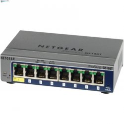 Коммутатор NETGEAR 5-port 10/100/1000 Mbps ProSafe Plus, ext. PS, Green features, managed via GUI(repl.GS105E-100PES)
