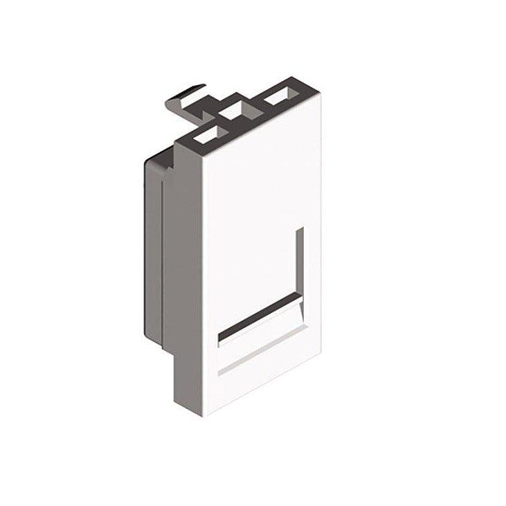 адаптер для Rj11 Rj45 без джека модуль 22 5х45 белый