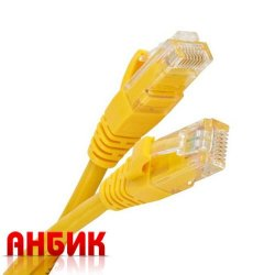 Патч корд UTP 5e 2м жёлтый RJ45-RJ45 (NM13001-020 yellow)